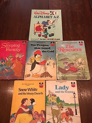 10 Vintage Walt Disney's Wonderful World of Reading Books Hard Cover 1970/80s