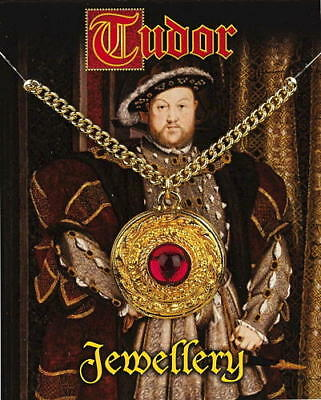 Henry VIII Gem Pendant - Gold Plated