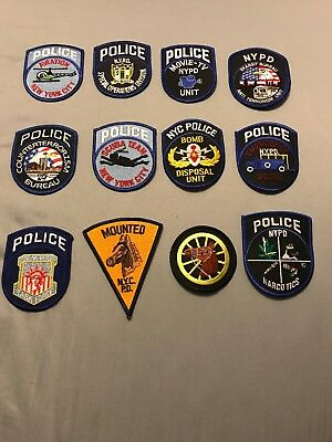 New York City NYPD Patch Lot