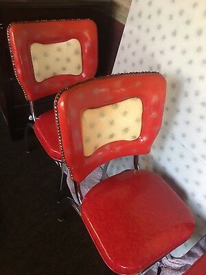 vintage formica kitchen table With Leaf And 4 Chairs