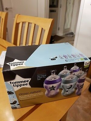 Brand new 6 x Tommee Tippee closer to nature decorated bottles