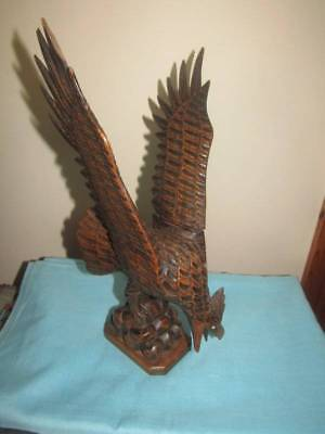 Antique Vintage Carved Eagle Black Forest