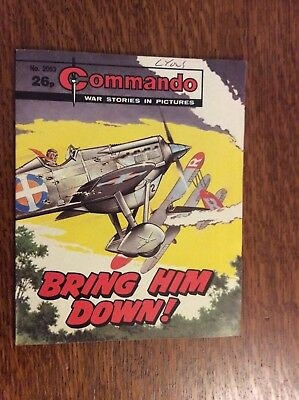 Commando Comic, No 2053,  Bring Him Down, printed 1987.