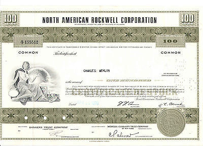 1970  North American Rockwell   100 Shares  USA