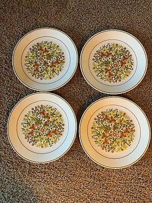 "SET of (4) CORELLE by CORNING ""INDIAN SUMMER"" PATTERN 10"" DINNER PLATES"