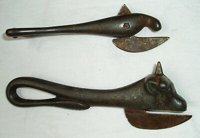 2 Antique/Victorian/WWI Cast Iron Tin/Can/Bottle Opener/Spike Bull/Bully Beef