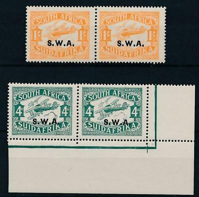 [34403] South West Africa 1929 Good airmail set blocks of 4 VF MNH stamps