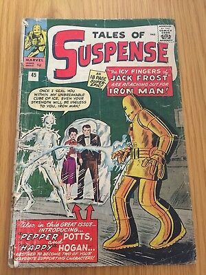 Tales of Suspense #45 1st Pepper Potts & Happy Hogan. Early Silver Age Iron Man