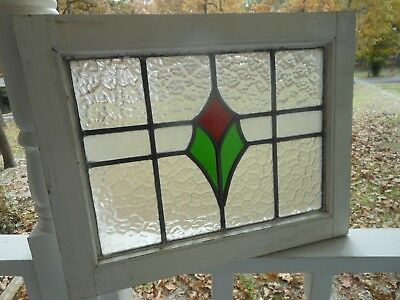 """MA16-213 Lovely Older Leaded Stained Glass Window F/England 21"""" X 16 5/8"""" Tall"""