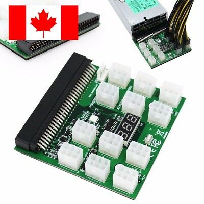 Breakout Board for HP Server Power Supplies GPU/ASIC Mining 12 x 6Pin PCIe Slots