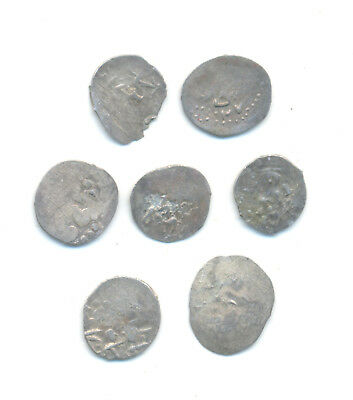 Turkey Ottoman Empire set of 7 middle ages akches dated 14-18 century #3