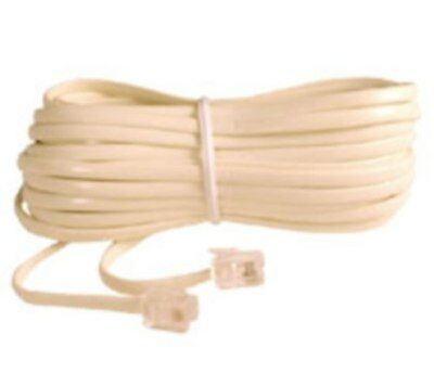 25feet/foot/ft Telephone Phone Extension Cord Cable Line Wire DSL/Landline{Ivory