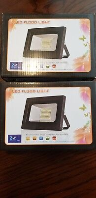 2 Pack SOLLA 30W LED Flood Light Outdoor Bright Security Lights, Warm White GS30