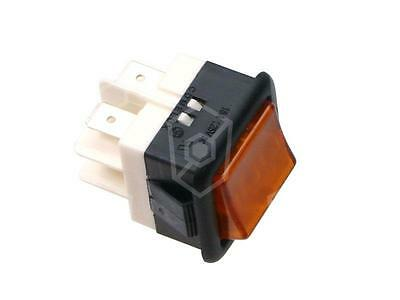 Rocker Switch 2-polig 250V 2NO Yellow Connection Faston 6,3mm Illuminated 16A