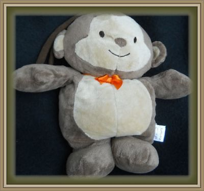 Carters CHILD OF MINE Musical LULLABY Brown Tan MONKEY Crib TOY Lovey BRAHMS
