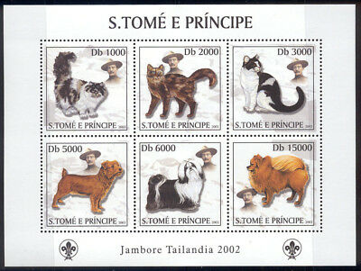 St Thomas & Prince Is-2003 MNH sheet of 6 cat stamps #1501 cv $ 9 Lot #190