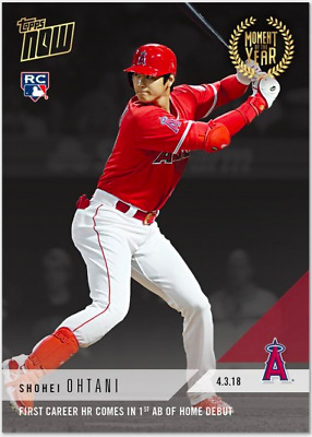 2018 Topps Now Moment of the Year #1 GOLD WINNER #MOY1 SHOHEI OHTANI RC Rookie