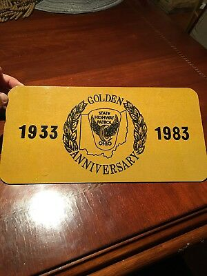 Ohio State Highway Patrol Golden Anniversary License Plate 1933 To 1983