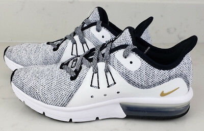 sale retailer 160cc c4c26 Nike Air Max Sequent 3 GS Youth Size 5.5Y Training Shoes White Black 922884-