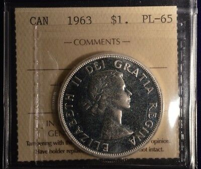 1963 Canada Dollar  -  Graded - ICCS PL-65