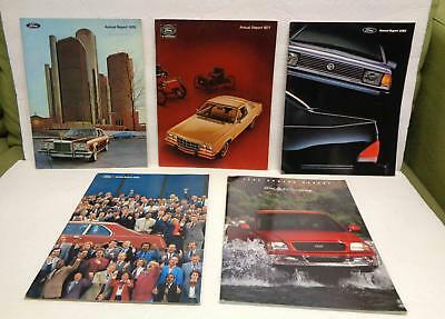 1976 1977 1982 1983 1995 Ford Motor Company Annual Reports LOT!
