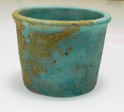 Zurqieh -As9983- Ancient Egypt. Faience Cup . Late Period. 600 - 300 B.c