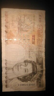 10 Pound Note Bank of England Charles Dickens Reverse Circulated