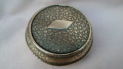 Vintage Art Deco Brass Portable Small Ash Tray In Good Well Used Vintage Cond.