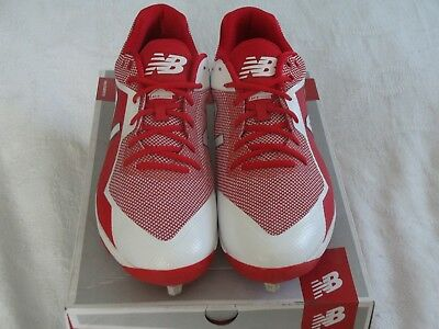 c6fcbe54c7f52 New Balance Molded Low Adult Men's Baseball Cleats Red/White L4040TR4 NWB  CHOICE