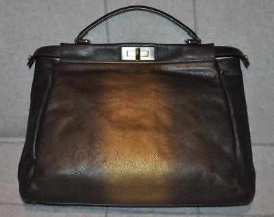 2935e32f6d0a RARE Fendi Large Peekaboo Bag Bicolor Leather NEW Handbag