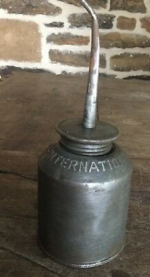 Vintage International Harvester Oil Can With Spout Farm Tractor Ih Collectible