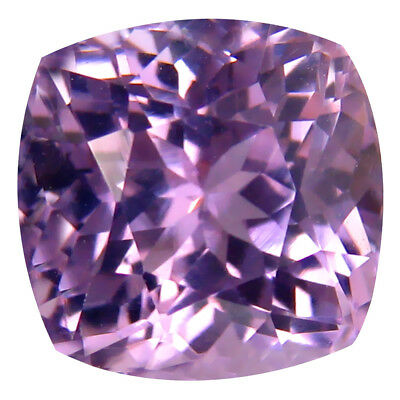 4.96 ct AAA Magnificent fire Cushion Shape (9 x 9 mm) Pink Kunzite Gemstone