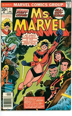 Lot Of 2 Bronze Age #1 Marvel Comics-Ms. Marvel; Micronauts
