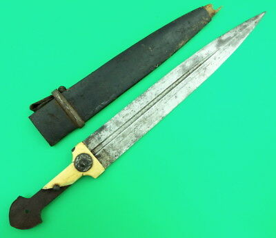 Very Old Russian Imperial Caucasian Kinjal Dagger With Damascus Core Blade (23)