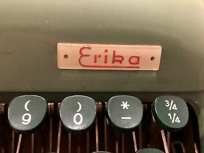 ERIKA 12 Typewriter with Case QWERTY Very Good Condition German