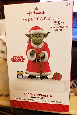 "Hallmark Keepsake Ornament - 2014 -  ""Yoda Peekbuster"" Star Wars - NIB"