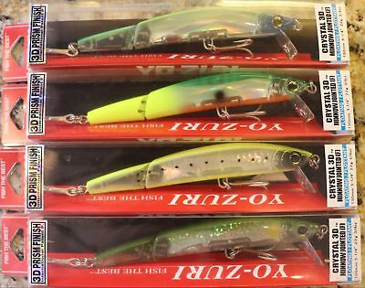 Yo Zuri F1152 Crystal Minnow Jointed 3D Prism Finish You Pick Colors & Qty NIP