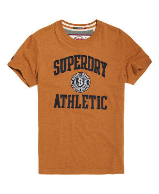 New Mens Superdry Applique T-Shirt Jim Mustard Marl
