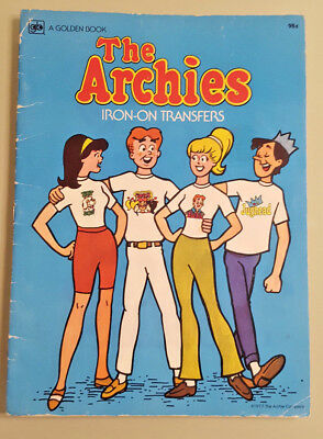 The Archies Iron-On Transfers - Golden Book 1977