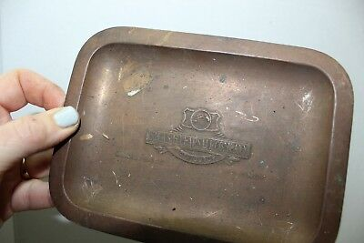 rca antique radio tube victorian advertising plate tray copper silas pearsall