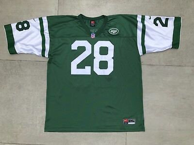 ea56331c290 Vintage New York Jets Curtis Martin 28 Nike Jersey XXL NFL Stitched  Authentic