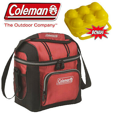 Coleman 9 Can Soft Cooler Esky Bag Esky Insulated + 6 Egg Carry Case Container