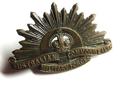 World War I Australian Commonwealth Military Forces Bronze Hat Badge