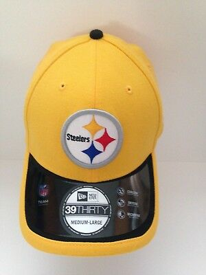 Pittsburgh Steelers New ERA 39Thirty 2015 Sideline Stretch fit hat M L  Yellow fab749e16