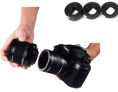 Auto Focus Macro Extension Tube For Canon EF-S EOS DSLR Camera Lens Adapter AF