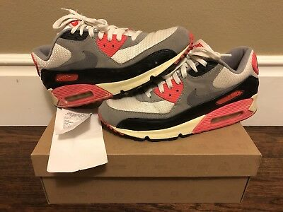 hot sale online 3bac4 bd8f5 MENS NIKE AIR Max 90 OG Retro Vintage 10.5 Sail Grey Infrared Shoe Sneaker  Rare