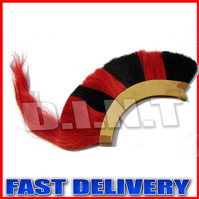 Black Red Plume Crest Brush Natural Horse Hair For Greek Corinthian sm45