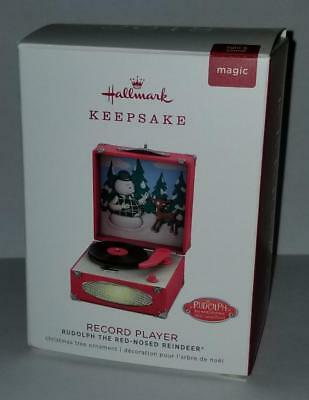 2018 Hallmark  RUDOLPH the RED NOSED REINDEER Record Player Magic Music Ornament