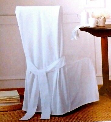 Swell Sure Fit Cotton Duck Long Dining Room Chair Cover 15 74 Cjindustries Chair Design For Home Cjindustriesco
