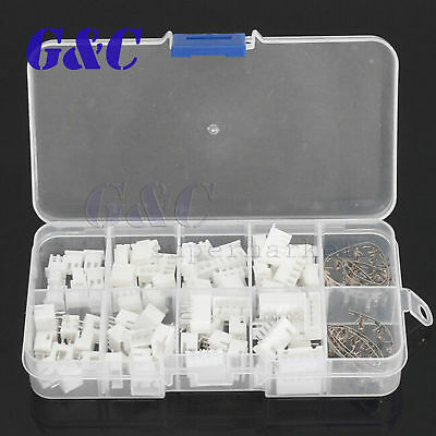 40 Sets JST 2~5Pin 2.5mm XH Male Female Housing Connector with Crimps Kit